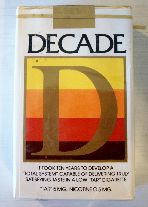 Decade filter kings - vintage American Cigarette Pack