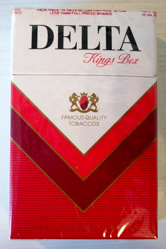 Delta kings box - vintage American Cigarette Pack
