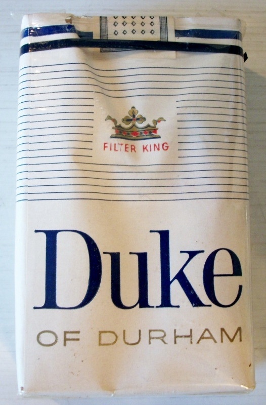 Duke of Durham filter kings - vintage American Cigarette Pack