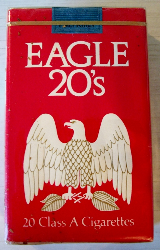 Eagle 20's, king size - vintage American Cigarette Pack