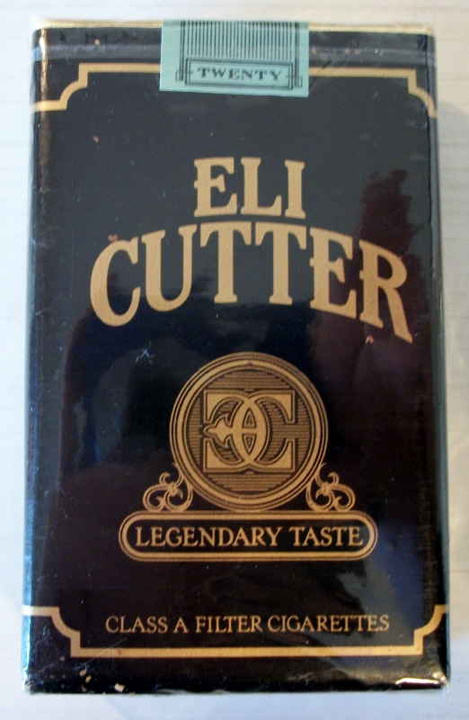 Eli Cutter, Legendary Taste, filter kings - vintage American Cigarette Pack