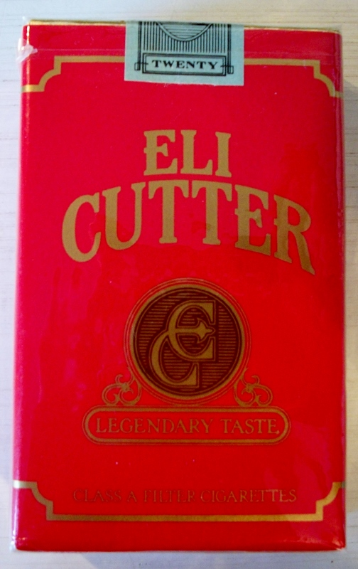 Eli Cutter, Legendary Taste, red filter kings - vintage American Cigarette Pack