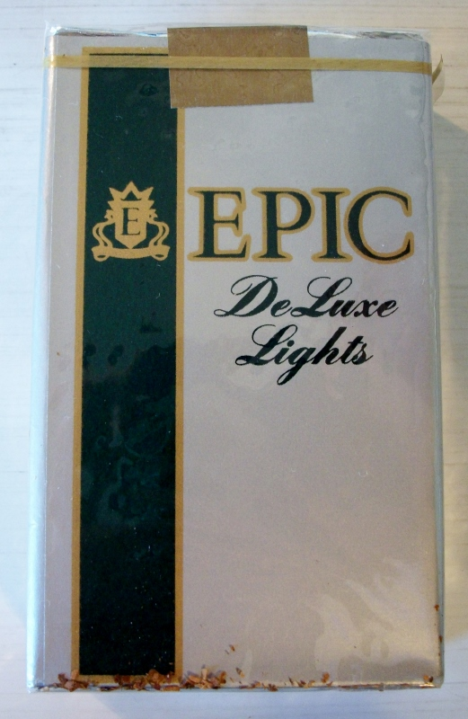 Epic DeLuxe Lights, king size - vintage American Cigarette Pack