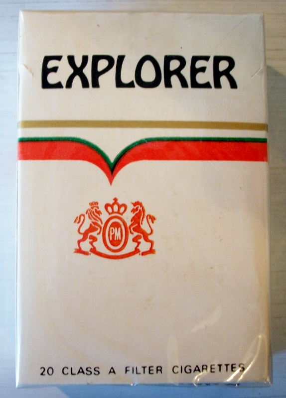 Explorer filter king size box - vintage American Cigarette Pack