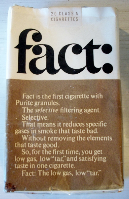 Fact: Filters king size - vintage American Cigarette Pack
