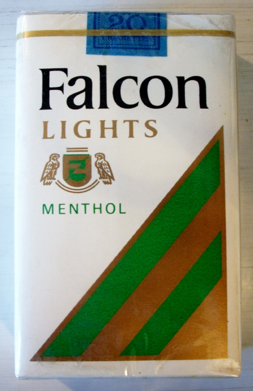 Falcon Lights Menthol, king size - vintage American Cigarette Pack