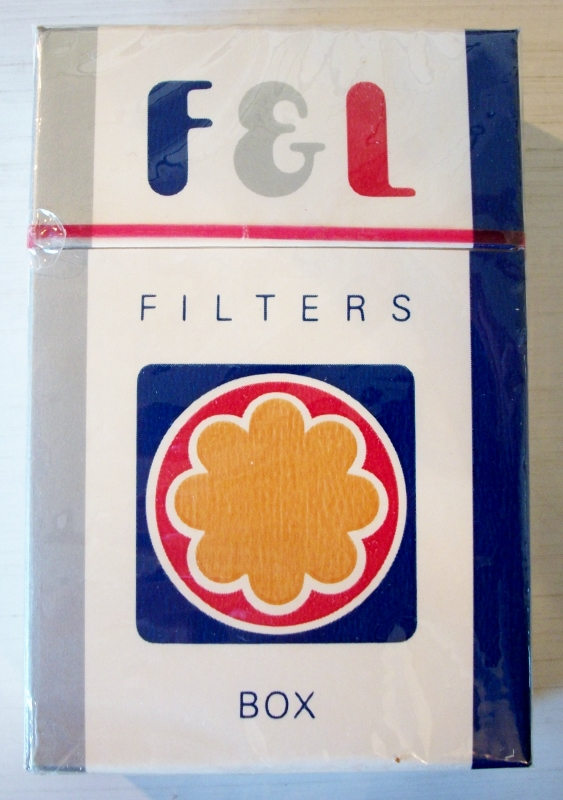 F & L Filters, king size box - vintage American Cigarette Pack