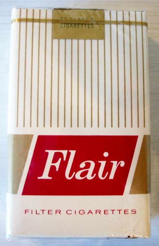 Flair filter, king size - vintage American Cigarette Pack