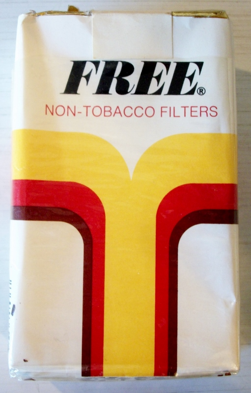 Free Non-Tobacco Filters, king size - vintage American Cigarette Pack