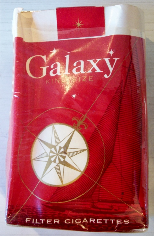 Galaxy Filter king size with coupon (open) - vintage American Cigarette Pack