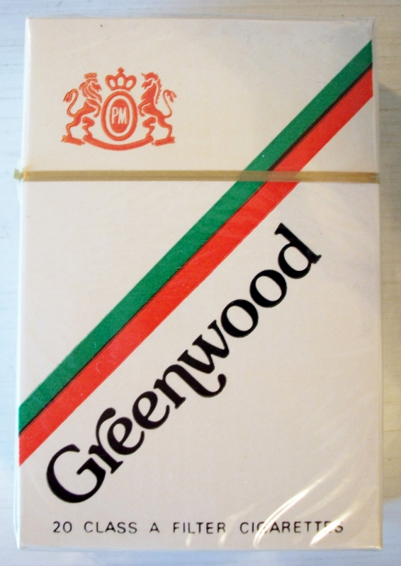 Greenwood filter king size box - vintage American Cigarette Pack