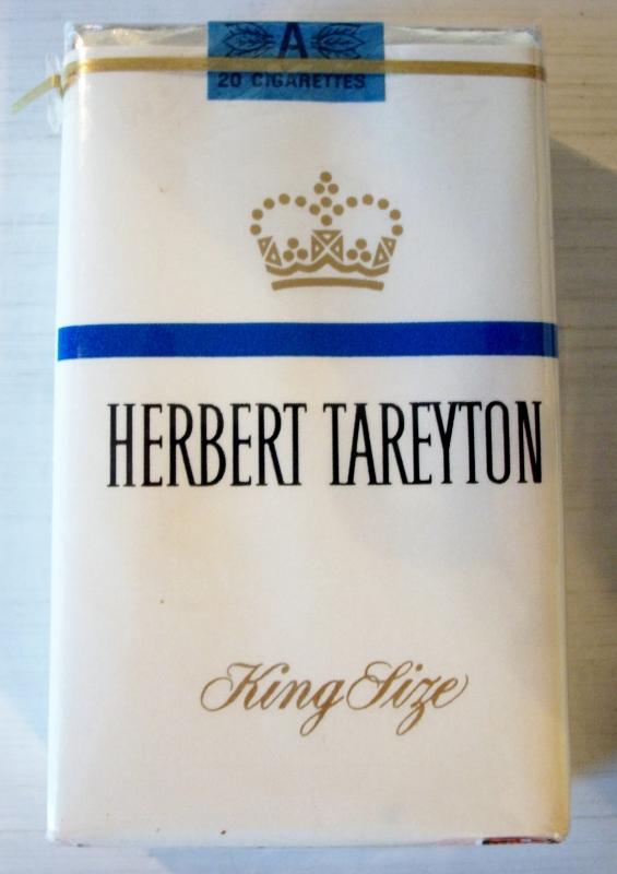 Herbert Tareyton king size - vintage American Cigarette Pack