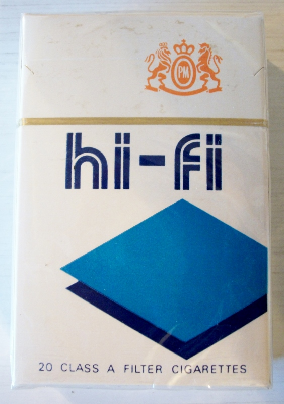 Hi-Fi Filter, king size box - vintage American Cigarette Pack