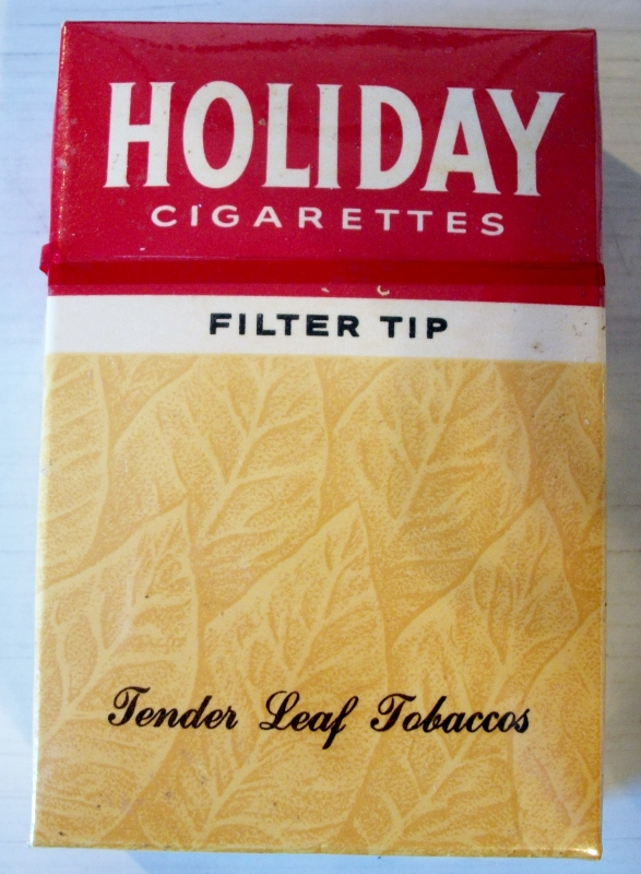 Holiday Filter Tip box 1956-59 - vintage American Cigarette Pack