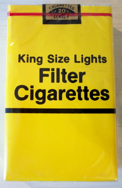 King Size Lights Filter Cigarettes - vintage Generic Cigarette Pack