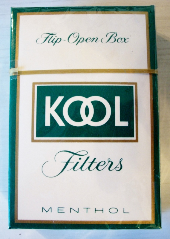 Kool Filters, Menthol king size box - vintage American Cigarette Pack