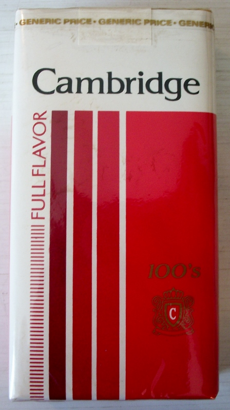 Cambridge 100s Full Flavor - vintage American Cigarette Pack