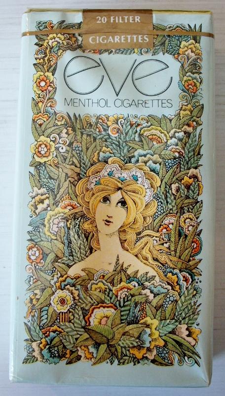 Eve Menthol 100s - vintage American Cigarette Pack