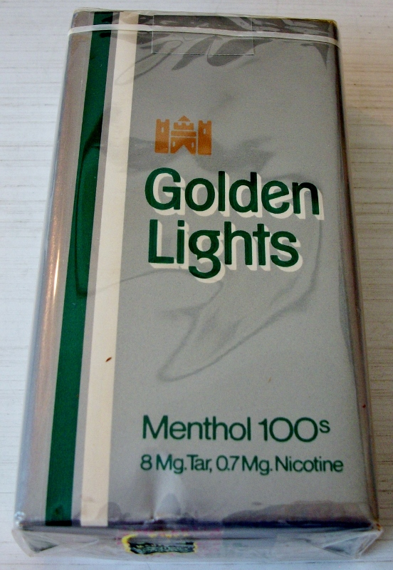 Golden Lights Menthol 100s - vintage American Cigarette Pack