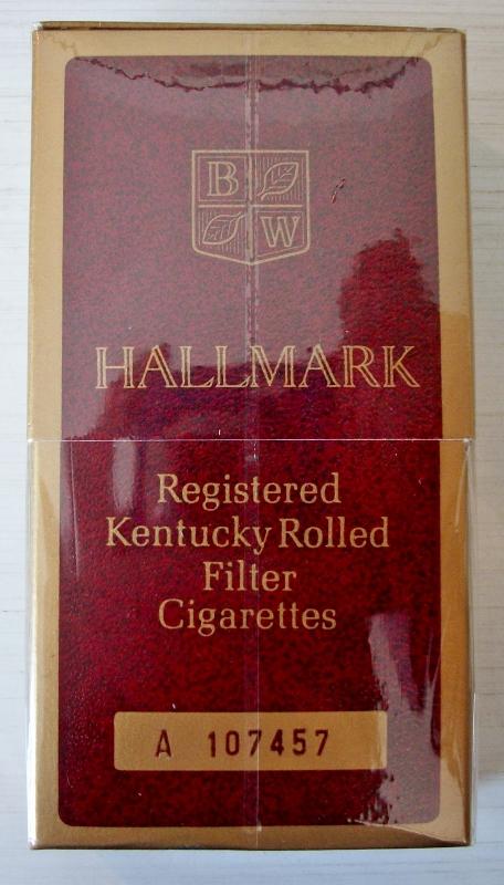 Hallmark Kentucky Rolled sleeve box - vintage American Cigarette Pack