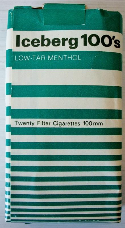Iceberg 100s Law Tar Menthol - vintage American Cigarette Pack