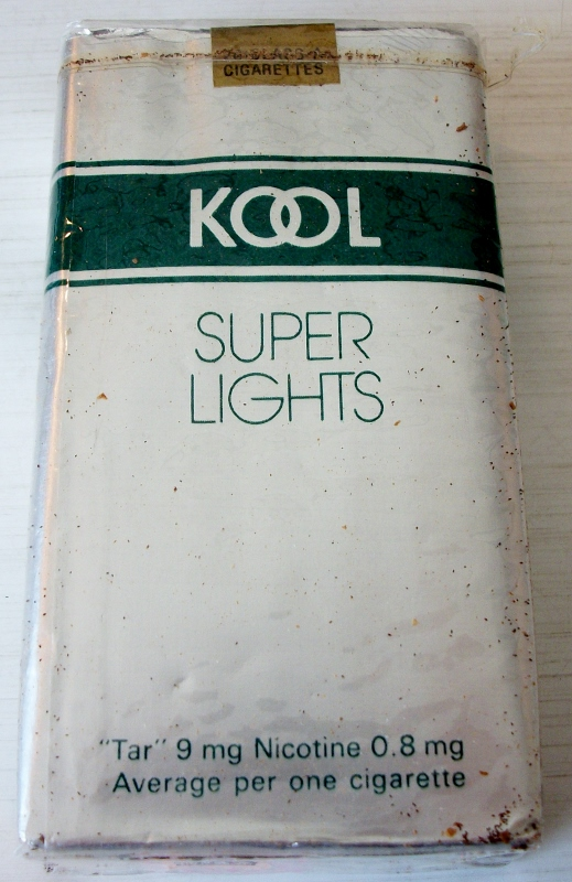 Kool Super Lights Longs - vintage American Cigarette Pack