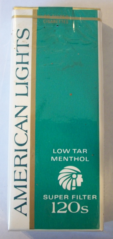 American Lights Low Tar Menthol Super Filter 120s - Vintage American Cigarette Pack