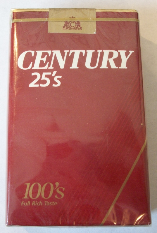 Century 25's Full 100's - Vintage American Cigarette Pack
