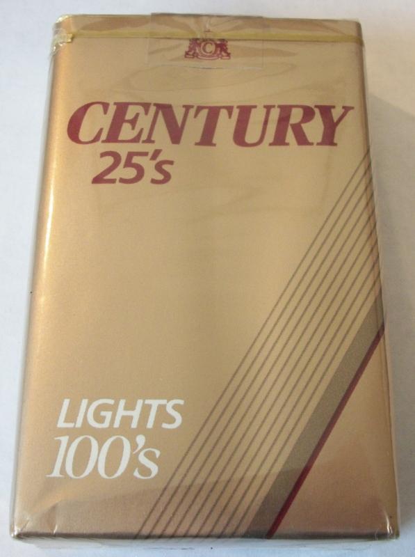 Century 25's Lights 100's - Vintage American Cigarette Pack