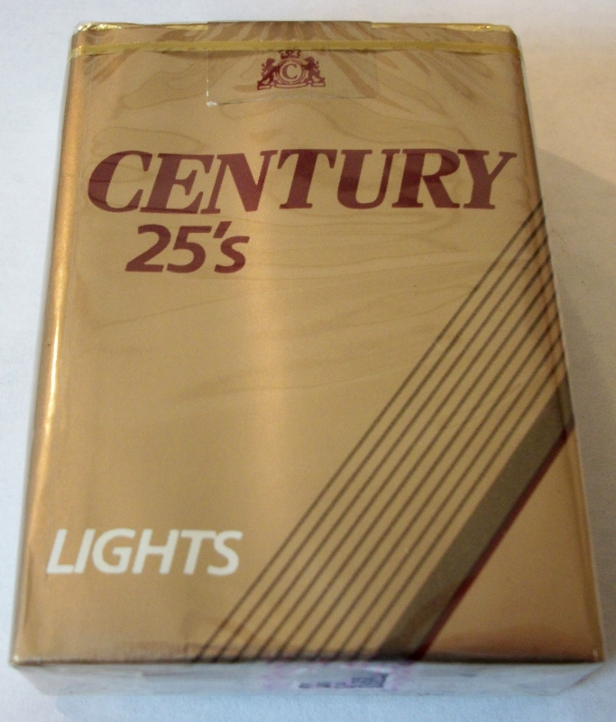 Century 25's Lights King Size - Vintage American Cigarette Pack