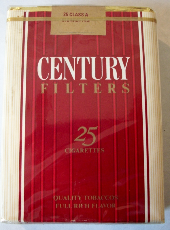Century Filters King Size 25-pack - Vintage American Cigarette Pack