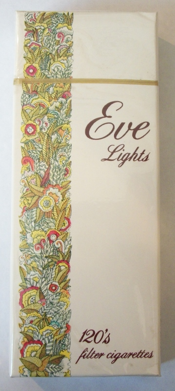 Eve Lights 120's Filter - Vintage American Cigarette Pack
