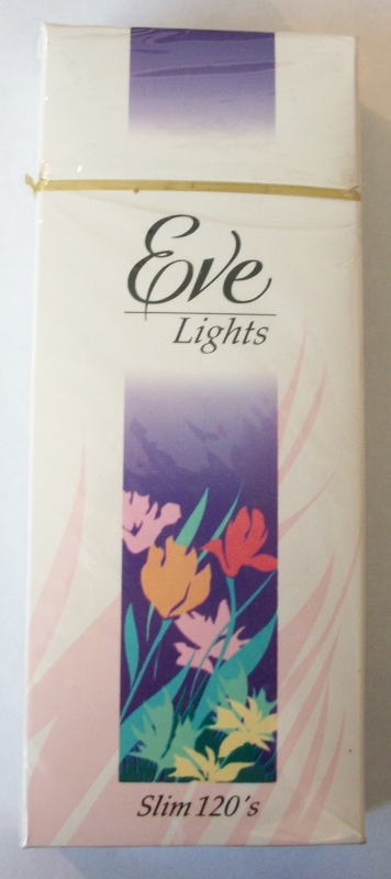 Eve Lights Slim 120's - Vintage American Cigarette Pack