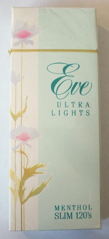 Eve Ultra Lights 120's Menthol Slim - Vintage American Cigarette Pack