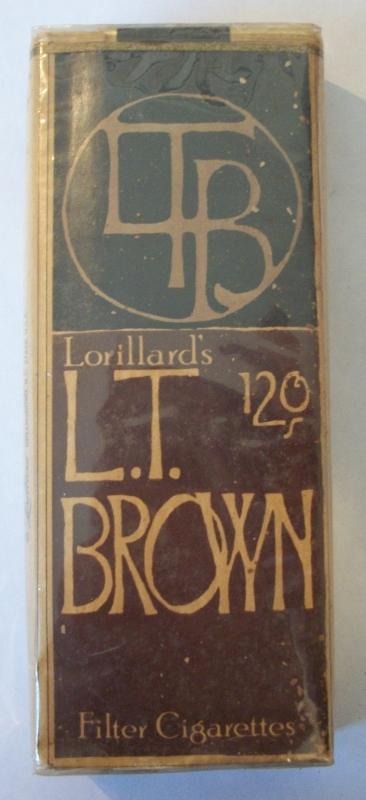 LTB Lorillard's L.T. Brown 120s - Vintage American Cigarette Pack