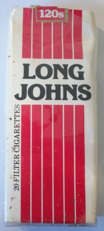Long Johns 120s Filter - Vintage American Cigarette Pack