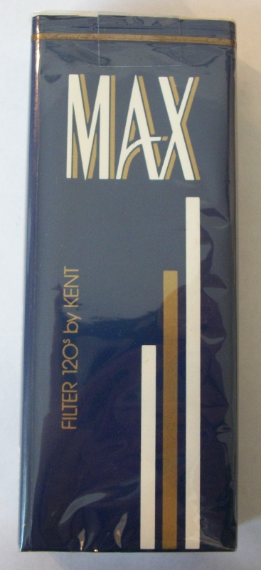 MAX Filter 120s by Kent - Vintage American Cigarette Pack