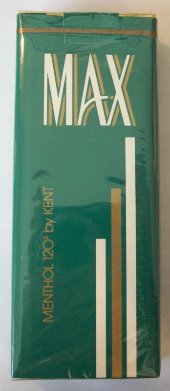 MAX Menthol 120s by Kent - Vintage American Cigarette Pack