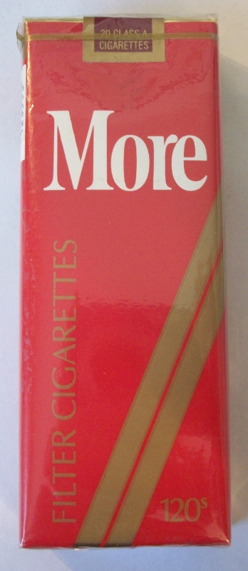 MORE 120s Filter (MD Stamp) - Vintage American Cigarette Pack