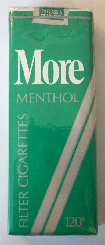 MORE120s Menthol Filter - Vintage American Cigarette Pack