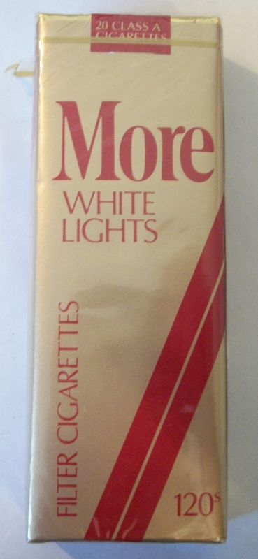 MORE White Lights 120s Filter (MD Stamp) - Vintage American Cigarette Pack