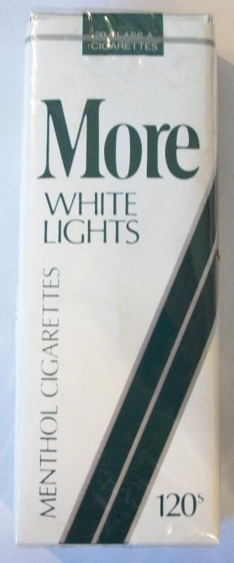 MORE White Lights 120s - Vintage American Cigarette Pack