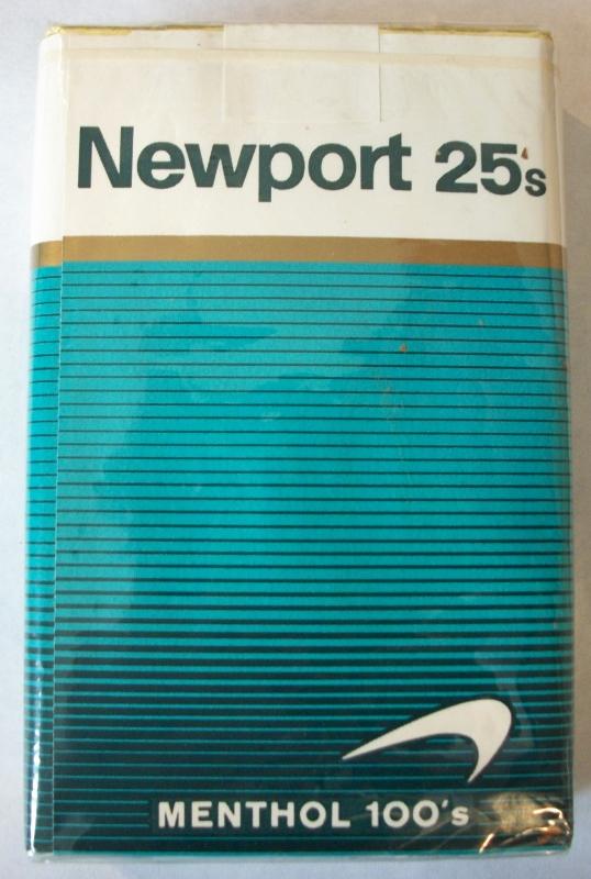 Newport 25s Menthol 100's - Vintage American Cigarette Pack