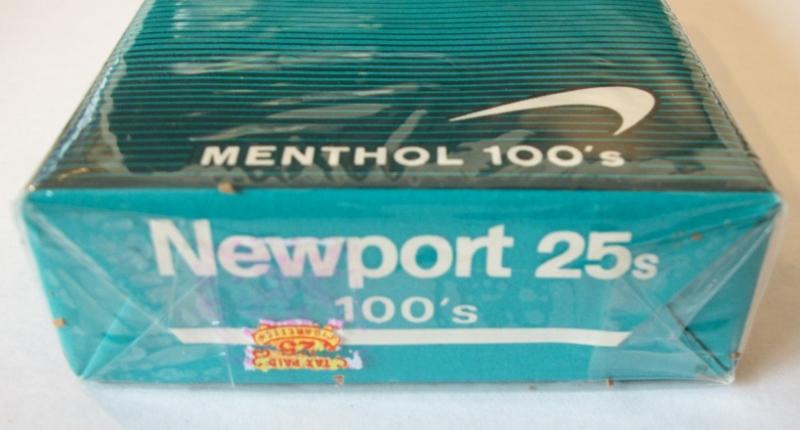 Newport 25s Menthol 100's – Vintage American Cigarette Pack