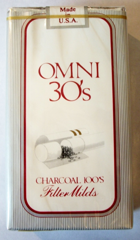 Omni 30's, Charcoal 100's, Filter Milds - Vintage Chinese (Japanese?) Cigarette Pack