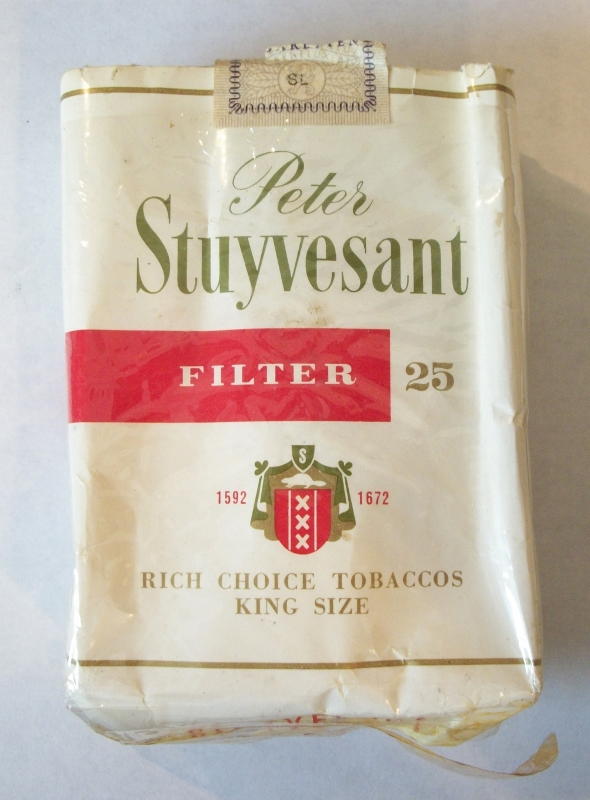 Peter Stuyvesant Filter 25-pack (partial) - Vintage DutchCigarette Pack