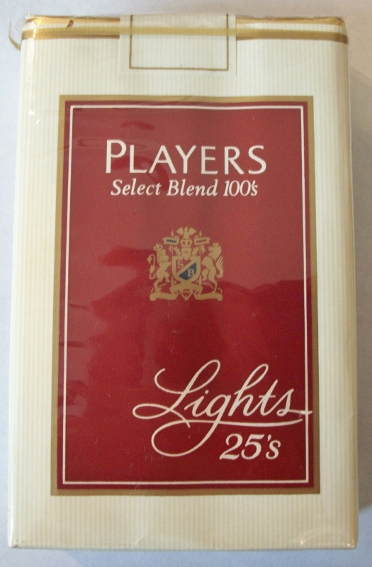 Players Special Blend 100's Lights 25's - Vintage American Cigarette Pack