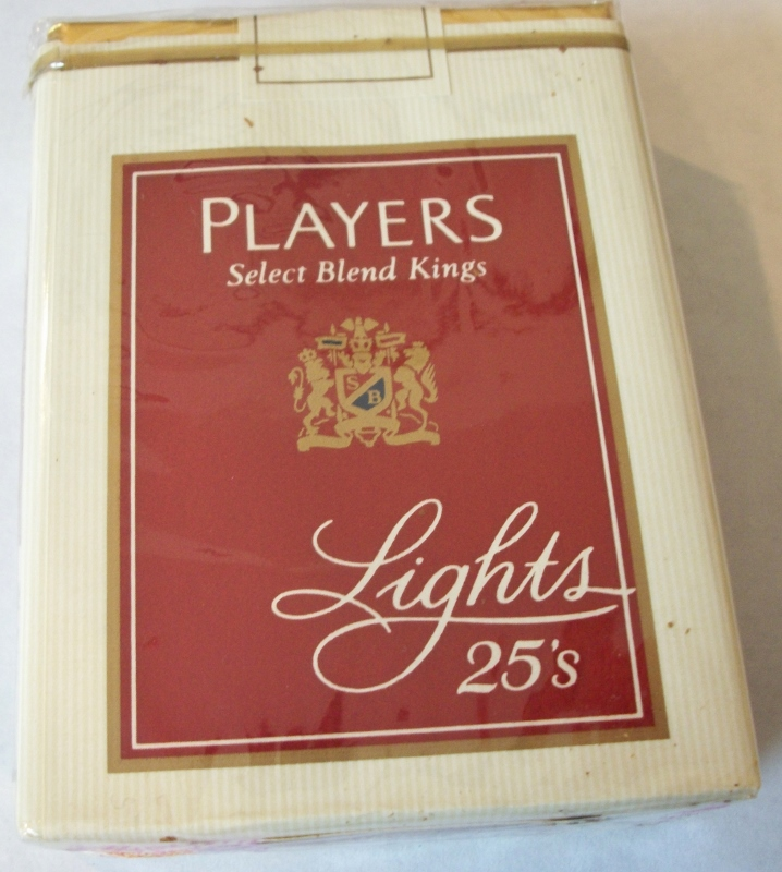Players Special Blend Kings Lights 25's (complimentary) - Vintage American Cigarette Pack