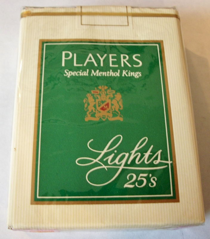 Players Special Menthol Kings Lights 25's - Vintage American Cigarette Pack