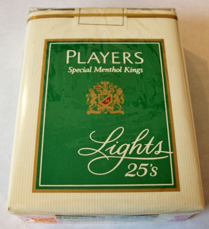 Players Special Menthol Kings Lights 25's (Complimentary) - Vintage American Cigarette Pack